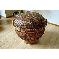 アジアン雑貨 バリ雑貨 ?バリ島のラウンドバスケット(Lサイズ)? バスケット かご 収納ボックス 収納BOX バンブー