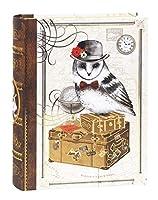パンチスタジオ 収納ボックス BOOK型 Mサイズ (アンティーク×メンフクロウ) 45968