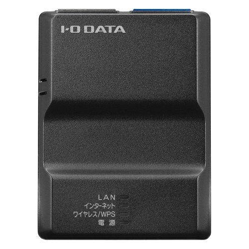 アイ オー データ機器 2.4GHz IEEE802.11n/g/b 対応 無線LANポケットルーター ブラック WN-G300TRK