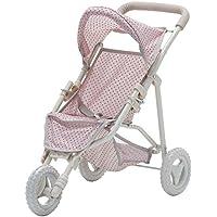 Olivia's Little World Polka Dots Princess 3-Wheels Deluxe Baby Doll Jogging Stroller