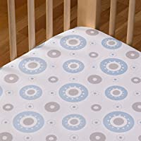 Living Textiles Cotton Poplin Fitted Sheet, Orbit by Living Textiles
