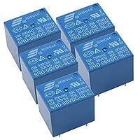 HWMATE DC 6V 10Aパワーリレー PCBマウント 5ピン変換タイプ(5パック)