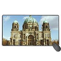 マウスパッド 滑り良いマウス ゲーミング 超滑らか オシャレ超大型 キーボードパッド ベルリン大聖堂