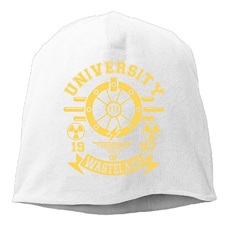 【Dera Princess】ユニセックス ニット帽 University Of Wastelandロゴ コットン ニットキャップ 帽子 オールシーズン 被れる
