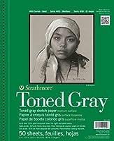 "Strathmore Spiral Toned Sketch Book 9""X12""-Gray 50 Sheets (並行輸入品)"