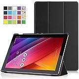 ASUS ZenPad 10 Z300C ケース - ATiC ASUS ZenPad 10 Z300C タブレット専用開閉式三つ折薄型スタンドケース。BLACK