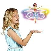 デラックス ライトアップ フラッターバイ フライングフェアリーズ★ Deluxe Light Up Flutterbye Fairy - Rainbow 【並行輸入品】