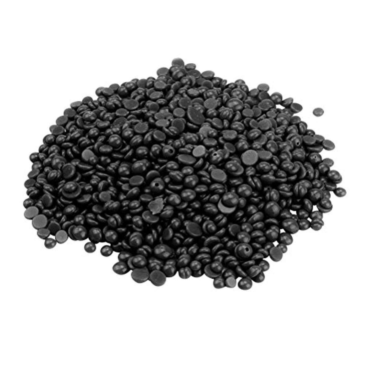 原油路面電車手術ROSENICE ハードワックス豆 脚の脱毛 いいえストリップ脱揮発性のパール 辛い 脱毛 400g (ブラック)