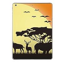 iPad mini mini2 mini3 共通 スキンシール retina ディスプレイ apple アップル アイパッド ミニ A1432 A1454 A1455 A1489 A1490 A1491 A1599 A1600 タブレット tablet シール ステッカー ケース 保護シール 背面 人気 単品 おしゃれ アニマル サファリ 動物 夕日 001243
