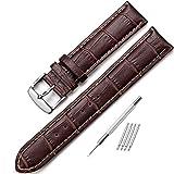 iStrap 20mm 時計ベルト 本革 防水 時計バンド おしゃれ 耐水性 スポーツ 腕時計ベルト 鰐皮紋様 6色選択 ブラック ブラウン レッド ホワイトセイコー 腕時計 メンズ iwc