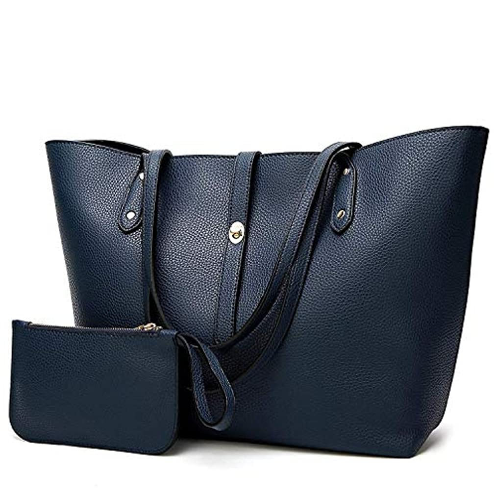 船尾無数の抑制[TcIFE] ハンドバッグ レディース トートバッグ 大容量 無地 ショルダーバッグ 2way 財布とハンドバッグ