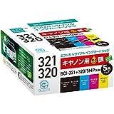 エコリカ リサイクルインクカートリッジ CANON 5個パック BCI-321+320/5MP ECI-C320+3215P/BOX