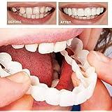 6本の偽の歯の上、美しいインスタント歯科用化粧板の笑顔の快適なフィットフレックス化粧品の歯義歯の歯のトップ化粧品のベニヤ、ワンサイズフィット矯正