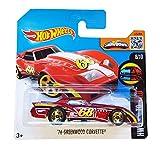 2016 Hot Wheels Short Card HW Mild to Wild '76 Greenwood Corvette Red #63/250