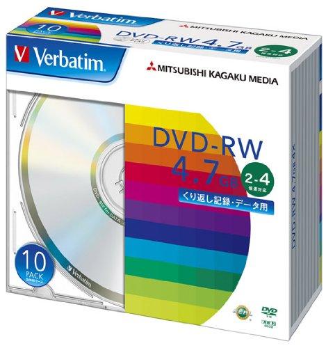 三菱ケミカルメディア Verbatim データ用DVD-RW くり返し記録 DHW47Y10V1 (2-4倍速/10枚)