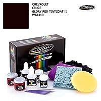 Chevroletシボレークルーズ/ GloryレッドTintcoat II–wa434b /カラーNドライブタッチアップペイントシステムペイントチップスクラッチ/ Proパック