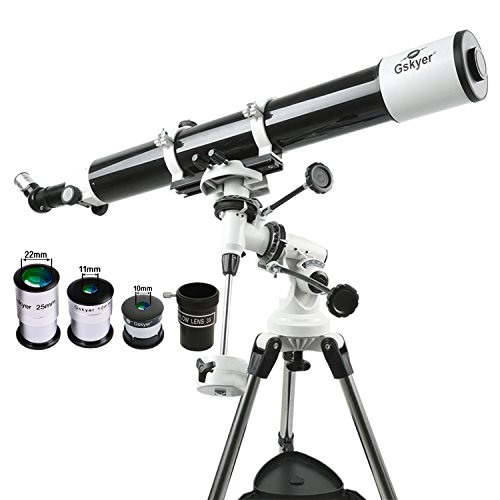 Gskyer 天体望遠鏡 屈折式 赤道儀 口径80mm 焦点距離900mm 初心者と子供向け