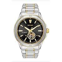 Citizen Men 's ' Signature ' Mechanical Hand WindステンレススチールDress Watch , Color : Two Tone ( Model : nb4014–56e )