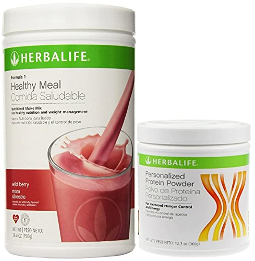 異常な勇者隠されたHerbalifeフォーミュラ1 Shake mix-wildベリー( 750g ) +式2 Personalized Protein Powder ( PPP ) -360g Unflavoured。