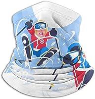 ハッピー子供スキー ネックウォーマー マフラー 帽子 ヘッドバンド 秋冬 防寒 防風 キャップ 多機能 フェイスマスク 通勤 通学 バイク アウトドア スキー スノボ 通気性 呼吸しやすい 男女兼用 フリーサイズ