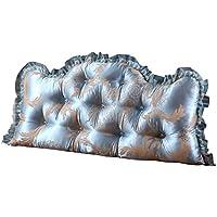 LIXIONG ヘッドボードクッション ソフトベッド 枕 シングルまたはダブル ソファ 大型背もたれ レース ウエストパッド、 11色 (色 : #1, サイズ さいず : 150x70x20cm)