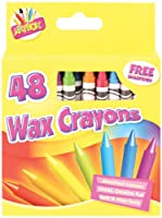 Artbox 48 Wax Crayons Set Of 48 Assorted Colours With Sharpener 1 - Pack
