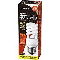 東芝 電球形蛍光ランプ ネオボール60WタイプD形 3波長形電球色 EFD15EL/12-EC 口金直径26mm