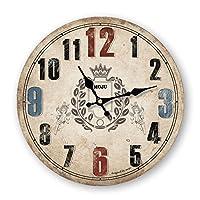 ヨーロッパの国のビンテージアメリカンミニマリストのリビングルームの装飾的なウォールクロック壁時計水晶時計 12 インチ