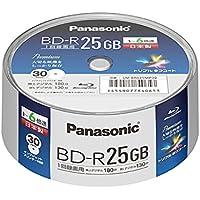 パナソニック 6倍速BRディスク片面1層25GB(追記)スピンドル30枚 LM-BRS25MP30