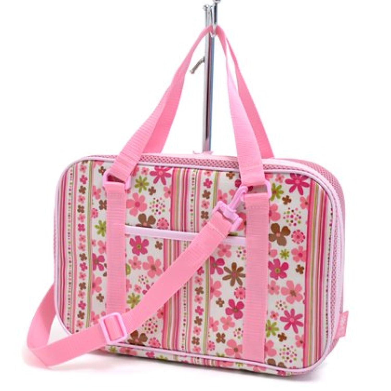 格上スタイルのキッズ書道?習字バッグ(バッグのみ) スカンジナビアのフラワーパーク(ピンク) N2201300