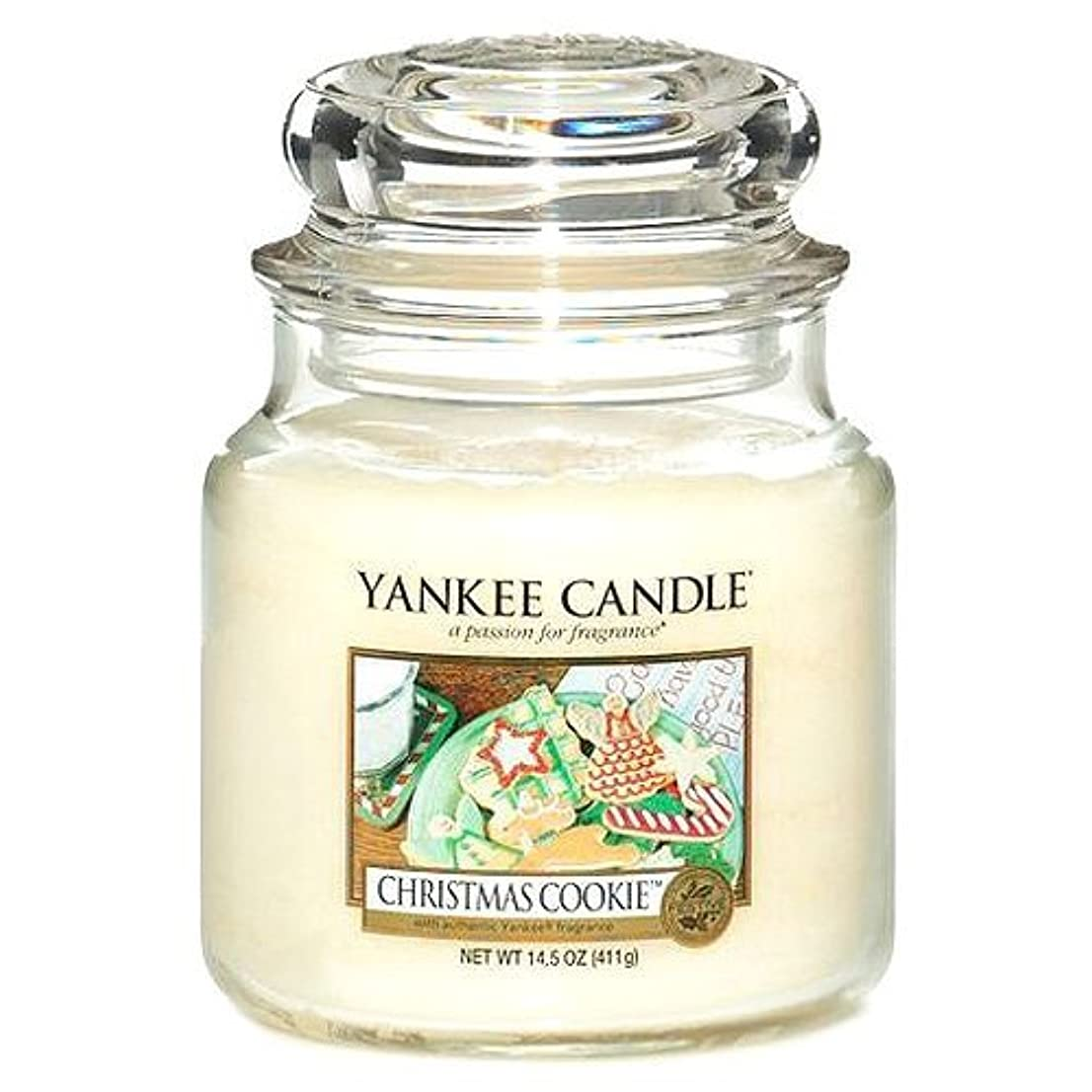 抜け目がない住居海外Yankee CandleクリスマスクッキーMedium Jar Candle , Food & Spice香り