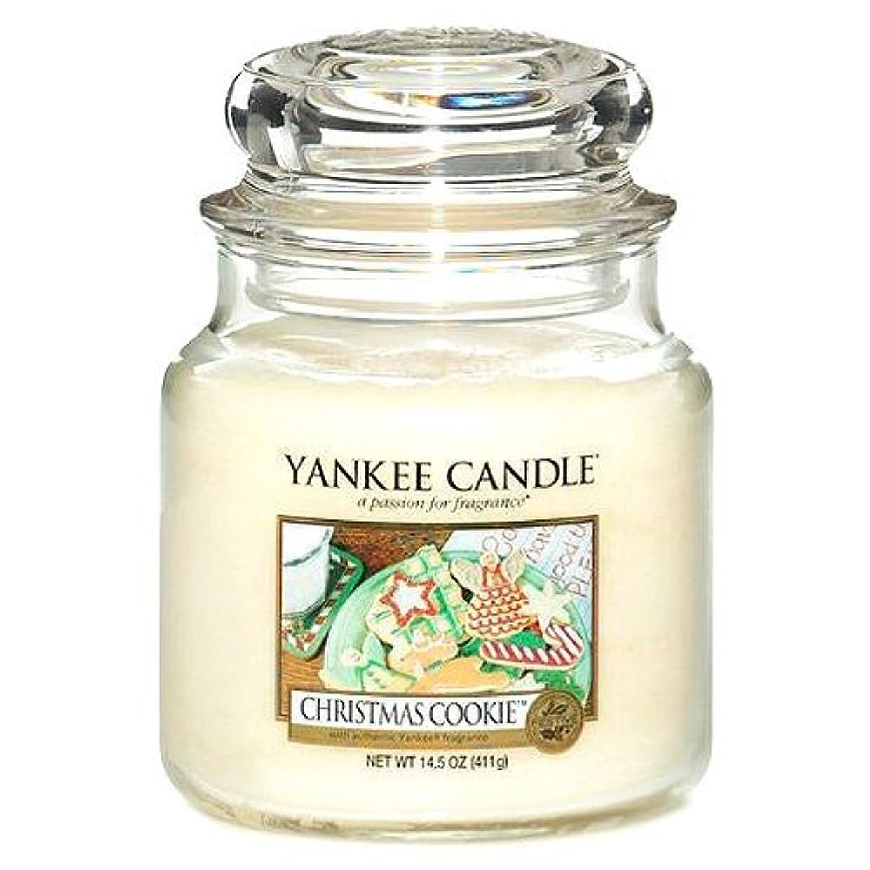 田舎者社会学勉強するYankee CandleクリスマスクッキーMedium Jar Candle , Food & Spice香り