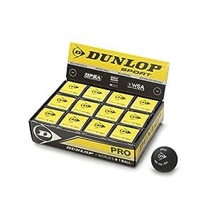DUNLOP(ダンロップ) スカッシュボール DUNLOP SQUASH BALLS 箱12個入り DSQB 黒