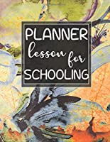 lesson planner for schooling: Weekly Teacher Planner with Important Dates.