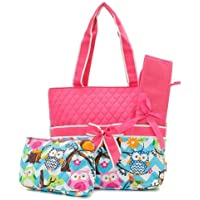 Quilted Owl Chevron Diaper Bag Hp by ngill