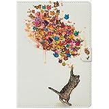 iPad Mini3 ケース iPad mini2 ケース iPad mini 手帳型ケース お洒落 かわいい 猫柄 iPadMini iPadMini2 iPadMini3 レザーケース オートスリープ 保護フィルム付き タッチペン付き ACkaban 可愛い ねこ ネコ アイパッドミニ ミニ2 ミニ3 手帳型カバー 手帳型 iPad mini mini 2 mini 3 ケース マグネット式 カード収納 スタンド機能 アイパッドミニ ノートブック ケース