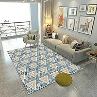 TJTJ カーペット幾何学的リビングルームソファコーヒーテーブルフロアマットモダンミニマリスト長方形 リビングルームカーペット (サイズ : 160*230cm)