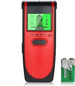 WiNo 4 in 1多機能スキャナー 壁検出器 下地探し 下地センサー LCDディスプレイ付き 音声警告 木材 金属 ACワイヤ検出用 引越し DIY大工 日本語取扱説明書付 (レッド)