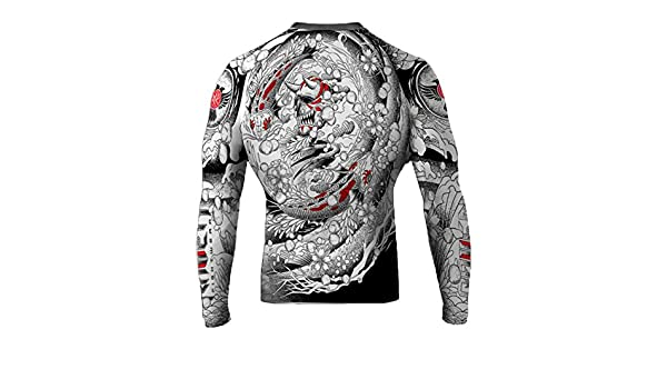 Raven Fightwear Mens Irezumi BJJ MMA Rash Guard RF041
