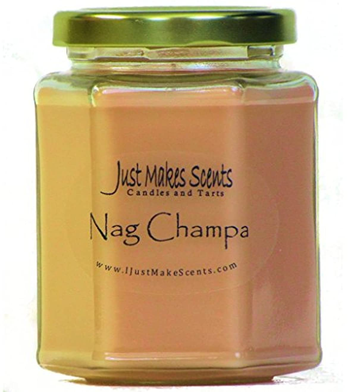 ベンチ造船金銭的Nag Champa香りつきBlended Soy Candle by Just Makes Scents