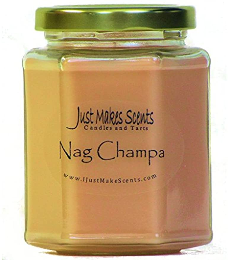 解任同志生物学Nag Champa香りつきBlended Soy Candle by Just Makes Scents