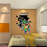 Latest Game Minecraft Enderman Wall Stickers Home Decor Minecraft Wallpaper Party Decorations Decal Sticker on Wall : Green