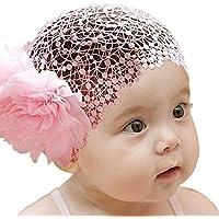 miugle Baby WideレースヘッドバンドターバンヘアバンドヘッドラップGirls Big Hair Bows