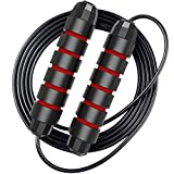 Jump Rope Workout for Kids and Adults - Fast Bearings, Foam Comfort Handles - Speed Rope Skipping Rope for Crossfit Training, Boxing, MMA Workouts and More (1 pack)