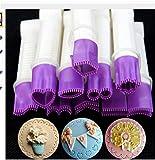 LZROL ベーキング ステンレス製 花型 スターターキット、ケーキデコレーション、DIY ケーキ、プリン、クッキー、アイスクリーム、お菓子の飾り用 焙煎ツール