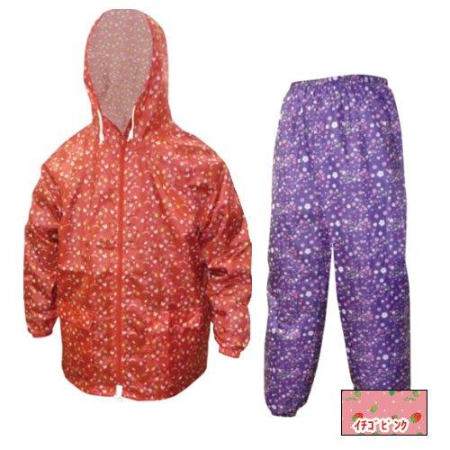 [해외]야마슈우 프린트 얏케 상하 세트 딸기 | 핑크 LL 700-701/Yamashi print Yakke top and bottom pair strawberry | pink LL 700-701