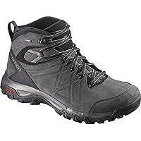 Salomon Men's Evasion 2 Mid Leather Gore-Tex Hiking Boot, Magnet/Phantom/Quiet Shade