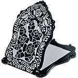 (アナスイ) ANNA SUI ビューティ ミラー N 鏡 コンパクト ビューティー 黒 ブラック ロゴ ローズ 薔薇 バラ