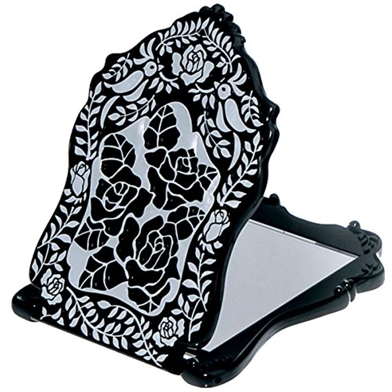がっかりする輸送寄付する(アナスイ) ANNA SUI ビューティ ミラー N 鏡 コンパクト ビューティー 黒 ブラック ロゴ ローズ 薔薇 バラ