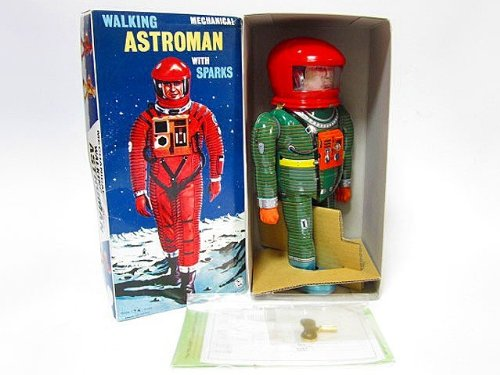 ブリキ玩具 アストロマン グリーン 復刻版 大阪ブリキ 2001年宇宙の旅 野村トーイ おもちゃ